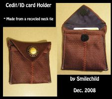Card Holder:Recycle Necktie by smilechild