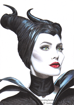 Angelina Jolie as Maleficent - Malefique by MorningSadness