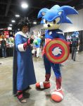 Menma and Captain Sonic by R-Legend