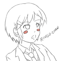 Neutral-faced Ringo-chan Sketch by psybustermk2