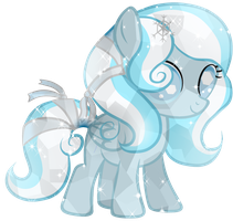 Snowdrop Crystal Pony by Posey-11