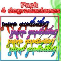 Pack 4 Gradients by SuperYaritziita9