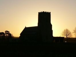 Wangford Chapel Sunset by G3LF1N