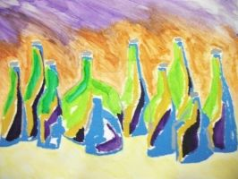 Wine Bottles by NewYorkArtistFrancis
