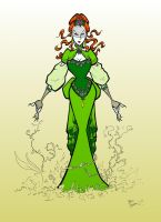 Edwardian Poison Ivy in Colour by BevisMusson