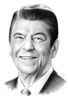 Ronald Reagan by gregchapin