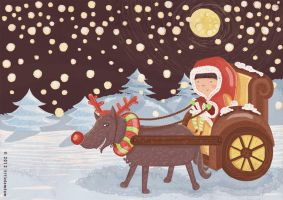 red riding hood in christmas by hutami-dwijayanti