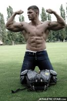 Muscular Football Player by philvegas