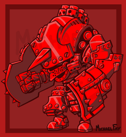 Commission: WarMachine Robot by MichaelFay