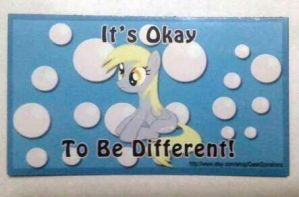It's Okay to be Different Derpy Magnets by cosplay-kitty