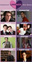 My Glee LOVE/HATE Meme by TwilightandFOB
