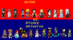 Anime vs. Disney Universe by Tohokari-Steel
