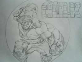 hulk sketch by papabear7