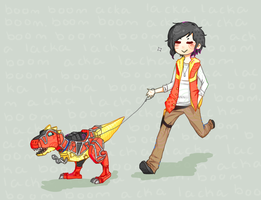 Walking The Dinosaur by OllieVA