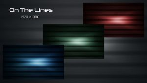 On The Lines - 3 Different Colors by LiquidSky64