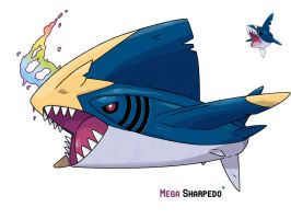 Mega Sharpedo by LeafyHeart