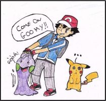 Ash catches a Goomy! by WalkerP
