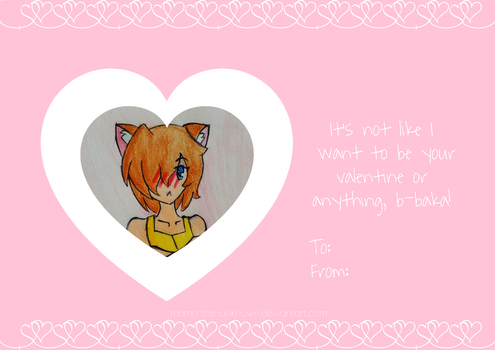 Baka, It's Just A Valentines Card! by Momo-The-Unknown