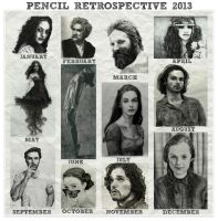 Pencil Retrospective 2013 by shuckaby