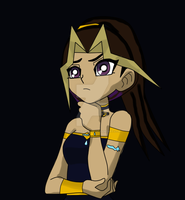 Atem's little girl Mari by QueenBrittStalin