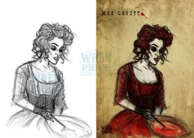 Mrs Lovett sketch to finish by Wynta-Illustrations