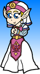 Young Zelda: Request by cazzyx3