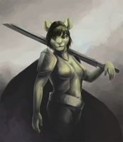 Speedpaint: Warrior by mouseymachinations