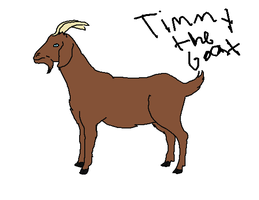 Timmy the goat by Lucklyheart