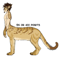 Cat-Taur Adoptable 1 SOLD by MystikMeep