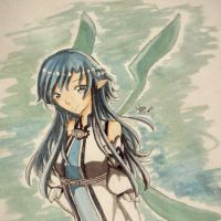 Blue Hair Asuna by monicann