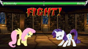 Pony Kombat Tournament Round 3, Battle 1 by Macgrubor