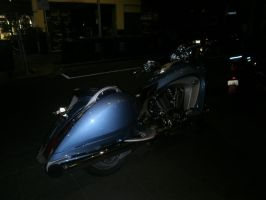 motorcycle at night 9 by LuchareStock