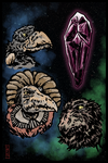 3 Skeksis Moon by colemunrochitty