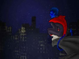 Perching Nighcrawler by andydiehl