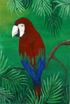 Parrot painting by VWStiti