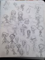 Doodles of Lapis and Pearl by Whitelili123