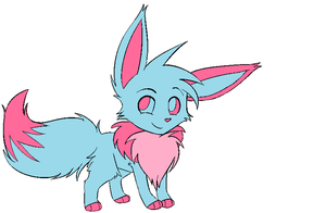 cotton candy eevee by SinArtist