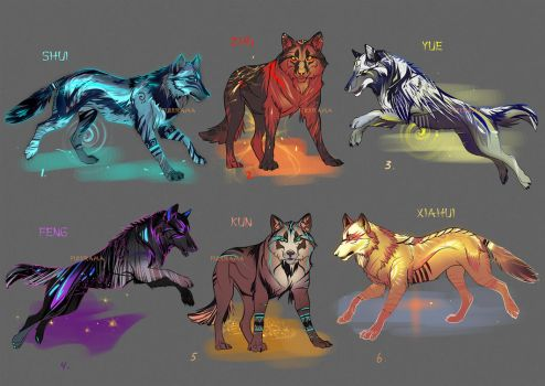 Wolfpack Auction Adopts [closed] by Furrirama