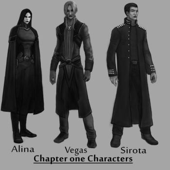 Chapter 1 characters by Vortican