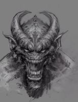 Demon Sketch by arjorda
