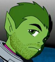 Beast Boy With Stubble by The-Last-Soul