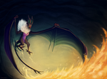 Noivern- Left Ablazing by Taluns