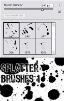 Splatter Brushes 1- PS7 by AttempteStock