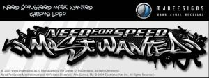 NFS Most Wanted Chrome Logo. by mjamil85