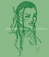 WoW - Orc Hairstyle Concept by jess-o