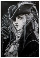 Lady Maria portrait - BLoodborne the old hunters2 by Hollow-Moon-Art