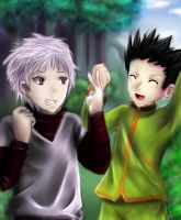 commission : killua and gon by xilveroxas