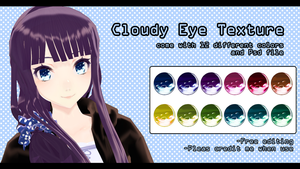 -MMD- Cloudy eye texture DL by AuroraYok