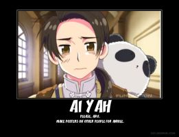 Hetalia China poster Ai Yah by DragonStalker0713