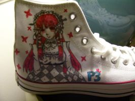 Persona 3 Shoes - Chidori 1 by IchiiOnTheGo